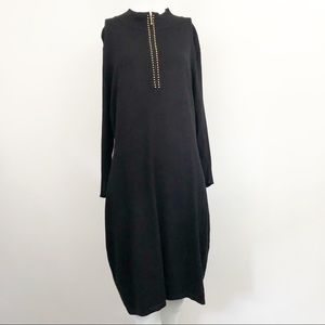 Calvin Klein Black Knit Sweater Dress - Size XL